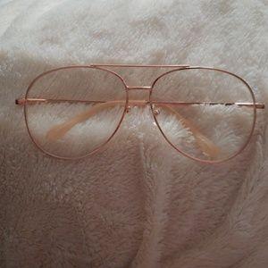 Classy  rose gold  glasses